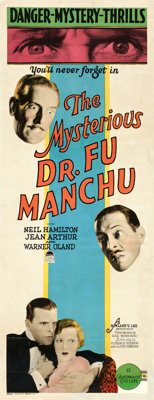 "The Mysterious Dr. Fu Manchu (Paramount, 1929). Insert (14"" X 36"")"