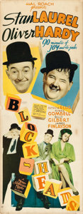 "Movie Posters:Comedy, Block-Heads (MGM, 1938). Insert (14"" X 36"").. ..."