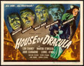 "Movie Posters:Horror, House of Dracula (Universal, 1945). Title Lobby Card (11"" X 14"")....."