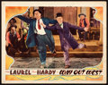 "Movie Posters:Comedy, Way Out West (MGM, 1937). Lobby Card (11"" X 14"").. ..."