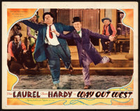 """Way Out West (MGM, 1937). Lobby Card (11"""" X 14"""")"""