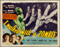 """Movie Posters:Horror, I Walked with a Zombie (RKO, 1943). Title Lobby Card (11"""" X 14"""").. ..."""