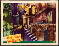 "Abbott and Costello Meet Frankenstein (Universal International, 1948). Lobby Card (11"" X 14"")"