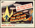 "Movie Posters:Science Fiction, Earth vs. the Flying Saucers (Columbia, 1956). Autographed TitleLobby Card (11"" X 14"").. ..."