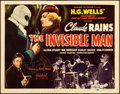 "Movie Posters:Horror, The Invisible Man (Realart, R-1951). Autographed Title Lobby Card (11"" X 14"").. ..."