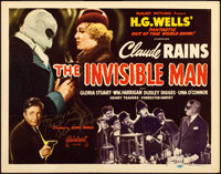 """The Invisible Man (Realart, R-1951). Autographed Title Lobby Card (11"""" X 14"""")"""