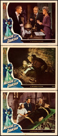 """Movie Posters:Horror, House of Dracula (Universal, 1945). Lobby Cards (3) (11"""" X 14"""").. ... (Total: 3 Items)"""