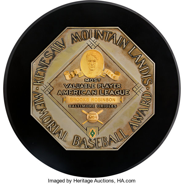Baseball CollectiblesOthers 1964 American League Most Valuable Player Award From The BrooksRobinson Collection