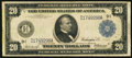 Large Size:Federal Reserve Notes, Fr. 996 $20 1914 Federal Reserve Note Fine.. ...