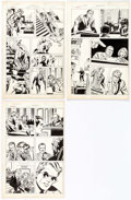 Frank Springer (attributed) Daredevil Unpublished Story Pages 2-4 Original Art ( Comic Art