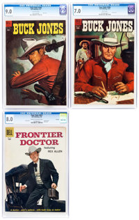 Four Color Western Themed CGC Graded Group Of 3 Dell 1954