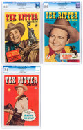 Golden Age (1938-1955):Western, Tex Ritter Western #1-3 CGC-Graded Group (Fawcett Publications, 1950-51).... (Total: 3 Comic Books)