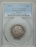 Coins of Hawaii , 1883 25C Hawaii Quarter -- Cleaning -- PCGS Genuine. Fine Details. NGC Census: (4/1396). PCGS Population: (12/2117). CDN: $...