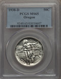 Commemorative Silver, 1938-D 50C Oregon MS65 PCGS. PCGS Population: (694/1050). NGCCensus: (365/846). CDN: $235 Whsle. Bid for problem-free NGC/...