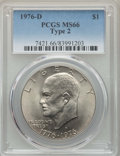 Eisenhower Dollars, (3)1976-D $1 Type Two MS66 PCGS. PCGS Population: (935/28). NGC Census: (517/20). CDN: $45 Whsle. Bid for problem-free NGC/... (Total: 3 coins)