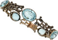 Estate Jewelry:Bracelets, Antique Aquamarine, Diamond, Silver-Topped Gold, Silver Br...