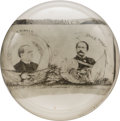 Political:3D & Other Display (1896-present), McKinley & Hobart: Highly Domed Jugate Glass Paperweight....