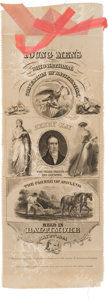 Political:Ribbons & Badges, Henry Clay: A Spectacular Large 1844 Ribbon Badge in Essentially Mint Condition....