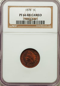 1878 1C PR66 Red and Brown Cameo NGC. NGC Census: (2/1). PCGS Population: (8/0)....(PCGS# 82323)