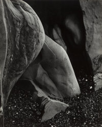 Edward Weston (American, 1886-1958) Eroded Rock, Point Lobos, 1930 Gelatin silver, printed circa 195