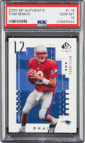 Football Cards:Singles (1970-Now), 2000 SP Authentic Tom Brady (#'d 1194/1250) #118 PSA Gem Mint 10.....