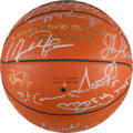 "Autographs:Baseballs, 1992 Barcelona Olympics USA Basketball ""Dream Team"" SignedBasketball from Christian Laettner.. ..."