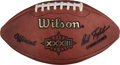 Football Collectibles:Balls, 1998 Super Bowl XXXII Game Used Football - Broncos vs. Packers (NFL LOAs). ...