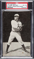 Baseball Cards:Singles (Pre-1930), 1907 PC765-1 Dietsche Post Cards Ty Cobb (Batting) PSA VG-EX 4....