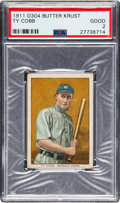 Baseball Cards:Singles (Pre-1930), Rare 1911-14 D304 Brunners Butter Krust Ty Cobb PSA Good 2....