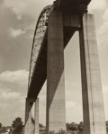 Photographs:Gelatin Silver, Unknown Artist (20th Century). Bridge Abstraction, circa1930s. Gelatin silver. 19-7/8 x 15-7/8 inches (50.5 x 40.3 cm)...