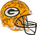 Football Collectibles:Helmets, 1996 Green Bay Packers Team-Signed Super Bowl XXXI Helmet....