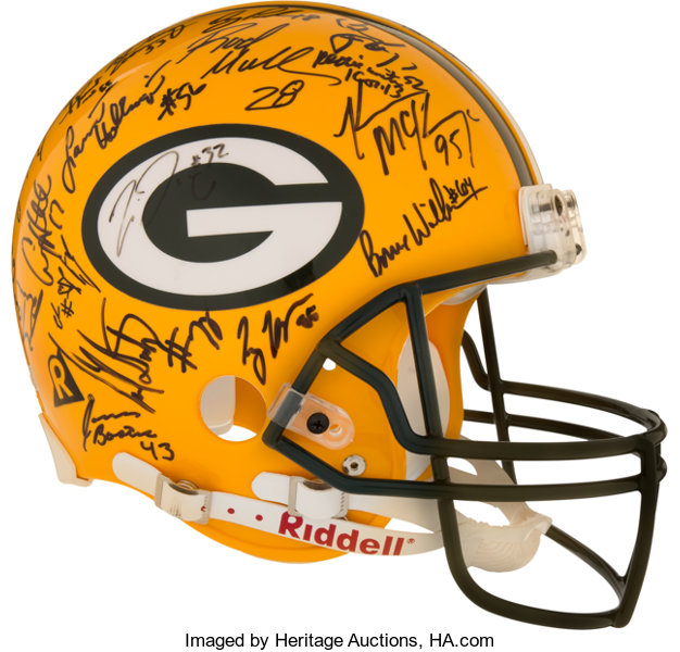 1996 Green Bay Packers Team Signed Super Bowl Xxxi Helmet Lot 80508 Heritage Auctions