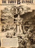 Political:Posters & Broadsides (1896-present), McKinley & Hobart: Prohibitively Rare Jugate Poster. ...