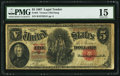 Large Size:Legal Tender Notes, Fr. 84 $5 1907 Legal Tender PMG Choice Fine 15.. ...