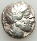 Ancients:Greek, Ancients: ATTICA. Athens. Ca. 440-404 BC. AR tetradrachm (16.95gm). Fine, test cut, bankers marks....