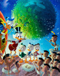 Memorabilia:Disney, Carl Barks An Astronomical Predicament Signed Limited Edition Lithograph Print #174/345 and Reprint Comic (Another... (Total: 2 Items)