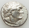 Ancients:Greek, Ancients: PTOLEMAIC KINGDOM. Ptolemy II Philadelphos (285/4-246BC). AR tetradrachm (14.11 gm). Choice XF, brushed, bankersmark....