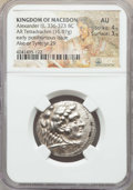 Ancients:Greek, Ancients: MACEDONIAN KINGDOM. Alexander III the Great (336-323 BC).AR tetradrachm (16.97 gm). NGC AU 4/5 - 3/5....