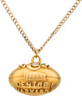 Football Collectibles:Others, 1921 Centre College vs. Harvard Gold Player's Football Pendant from Historic Upset....