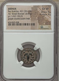 "Ancients:Judaea, Ancients: JUDAEA. Bar Kochba Revolt (AD 132-135). AE ""small bronze""(4.65 gm). NGC Choice VF 5/5 - 4/5...."