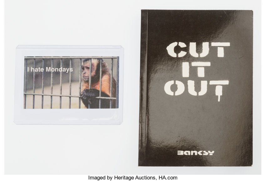 After Banksy . Cut It Out, booklet, and The Village Pet Store, | Lot ...