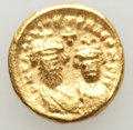 Ancients:Byzantine, Ancients: Heraclius (AD 610-641) and Heraclius Constantine (AD613-641). AV solidus (4.38 gm). XF, scratch....