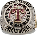 Baseball Collectibles:Others, 2011 Texas Rangers American League Championship Ring.. ...