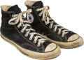 Football Collectibles:Others, 1960's Johnny Unitas Exhibition Basketball Game Worn Baltimore Colts Sneakers....