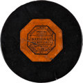Hockey Collectibles:Equipment, 1961 Willie O'Ree First Career Goal Puck-First NHL Goal by an African-American Player.. ...
