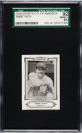 Baseball Cards:Singles (Pre-1930), 1926 Sports Co. of America Babe Ruth (1926) SGC 92 NM/MT+ 8.5. ...
