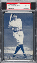 Baseball Cards:Singles (Pre-1930), 1928 Exhibits Babe Ruth PSA VG-EX 4. . ...
