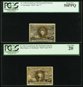 Fractional Currency:Second Issue, Fr. 1318 50¢ Second Issue PCGS About New 50PPQ;. Fr. 1321 50¢Second Issue PCGS Very Fine 20.. ... (Total: 2 notes)