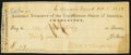 Confederate Notes:Group Lots, Assistant Treasurer of the Confederate States at Sullivan's Island(SC) Check $49 Oct. 7, 1862.. ...