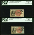Fractional Currency:Fourth Issue, Fr. 1267 15¢ Fourth Issue PCGS Apparent Choice About New 58;. Fr.1271 15¢ Fourth Issue PCGS Apparent Choice About New 58.. ...(Total: 2 notes)
